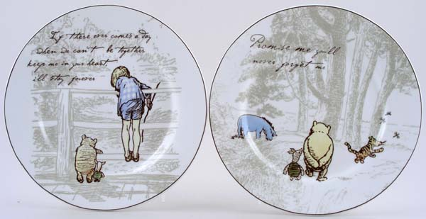 Churchill Winnie the Pooh colour Plates Set of 4 & Churchill Winnie the Pooh colour Plates Set of 4 | Lovers of Blue ...