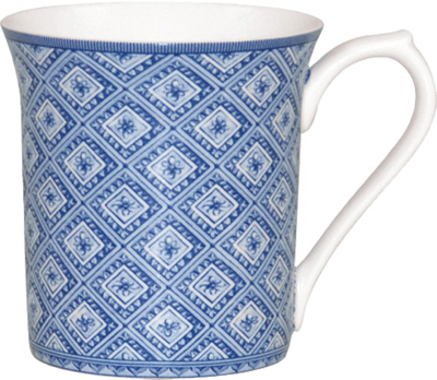 Queens Blue Story Mug Stucco