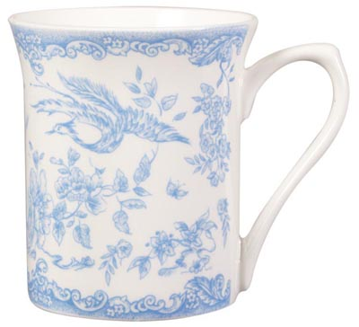 Queens Powder Blue Mug Birds