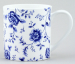 Queens Blue Story Mug Rose Chintz