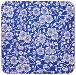 Churchill Blue Story Calico Coasters set of 4