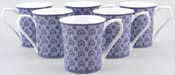 Mugs set of 6 Classical