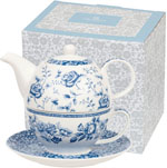 Queens Blue Story Tea for One Set