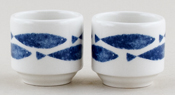 Queens Sieni Fishie on a Dishie Egg Cups Set of 2