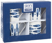Queens Sieni Fishie on a Dishie Mug Set of 4