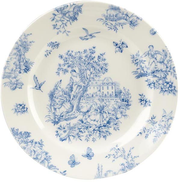 Queens Toile de Jardin Side or Cheese Plate