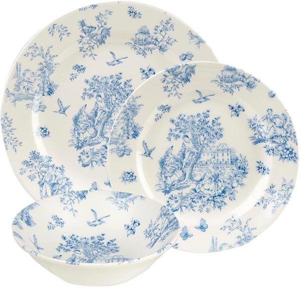 Queens Toile de Jardin 12 Piece Dinner Set