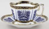 Coalport Wilton Lily Teacup and Saucer c1885