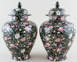 Vases covered pair of c1913