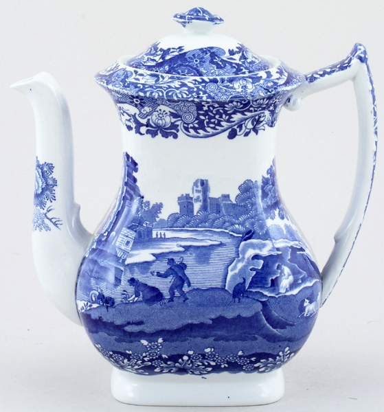 Blue Italian Coffee Maker : Spode Italian Coffee Pot c1950s Lovers of Blue and White