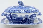 Spode Italian Sauce Tureen with Fixed Stand c1930s