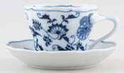 Japan Blue Danube Teacup and Saucer c1950s to 1970s