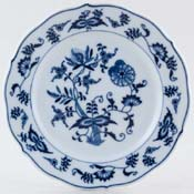 Japan Blue Danube Side or Cheese Plate c1980s & 1990s