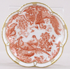 Royal Crown Derby Red Aves Dish c1977