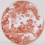 Royal Crown Derby Red Aves Plate c1980