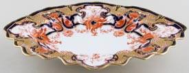 Royal Crown Derby Unidentified Pattern colour Dish c1907