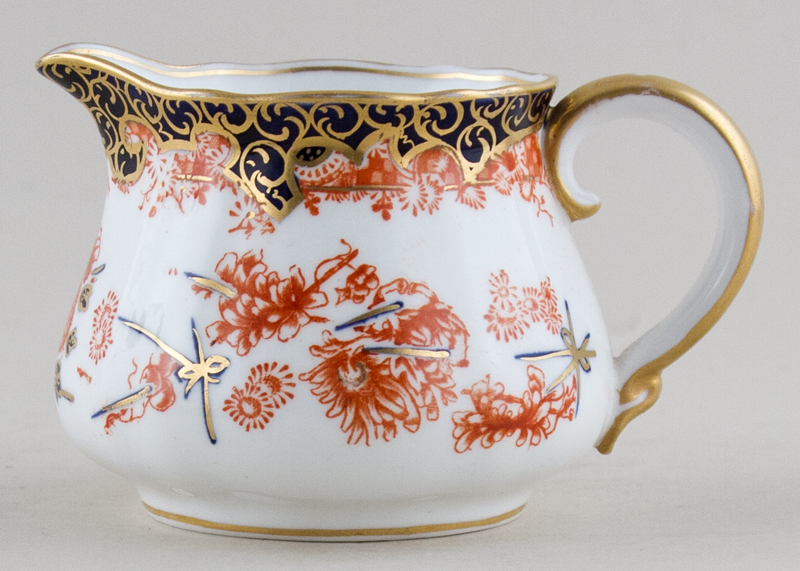 Royal Crown Derby Scissor colour Creamer or Jug c1903