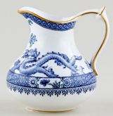 Royal Crown Derby Dragon blue with colour Jug or Creamer c1928