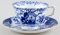 Royal Crown Derby Mikado Cup and Saucer c1930s