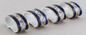 Royal Doulton Real Old Willow Napkin Rings Set of 4 c1980