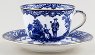 Royal Doulton Watteau Teacup and Saucer c1904