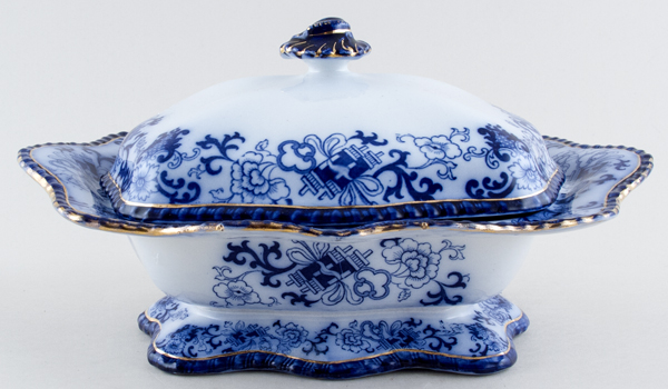 Doulton Nankin Vegetable Dish With Cover c1900