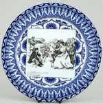 Plate She Goes Into Colours c1903