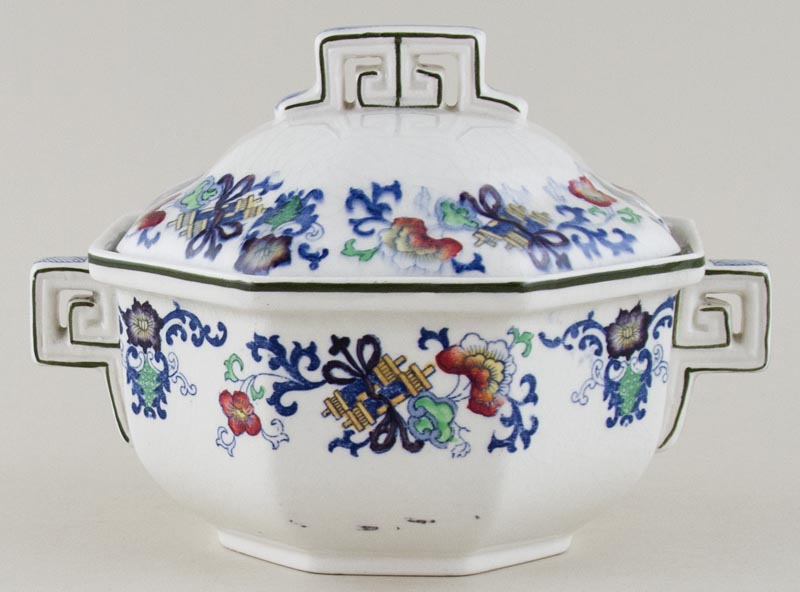 Royal Doulton Nankin blue with colour Sauce Tureen c1920
