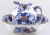 Doulton Nankin blue with colour Ewer and Bowl c1903