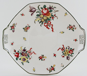 Royal Doulton Old Leeds Sprays colour Bread and Butter Plate c1940
