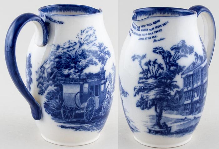 Royal Doulton Unidentified Pattern Jug or Pitcher Queens Head Islington c1910