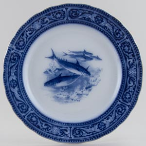 Royal Doulton Unidentified Pattern Plate fish c1920s
