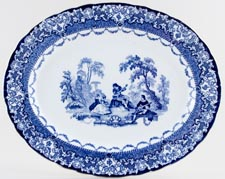 Royal Doulton Watteau Meat Dish or Platter c1930s