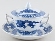 Booths Dragon Cup and Saucer with Lid c1930