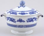 Cauldon Dragon Sauce Tureen c1930s