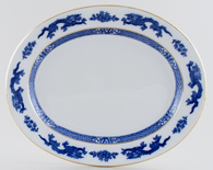 Cauldon Dragon Meat Dish or Platter c1940