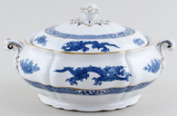 Booths Dragon Vegetable Dish with Cover c1950s
