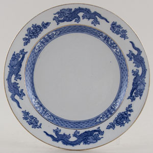 Cauldon Dragon Plate c1930s