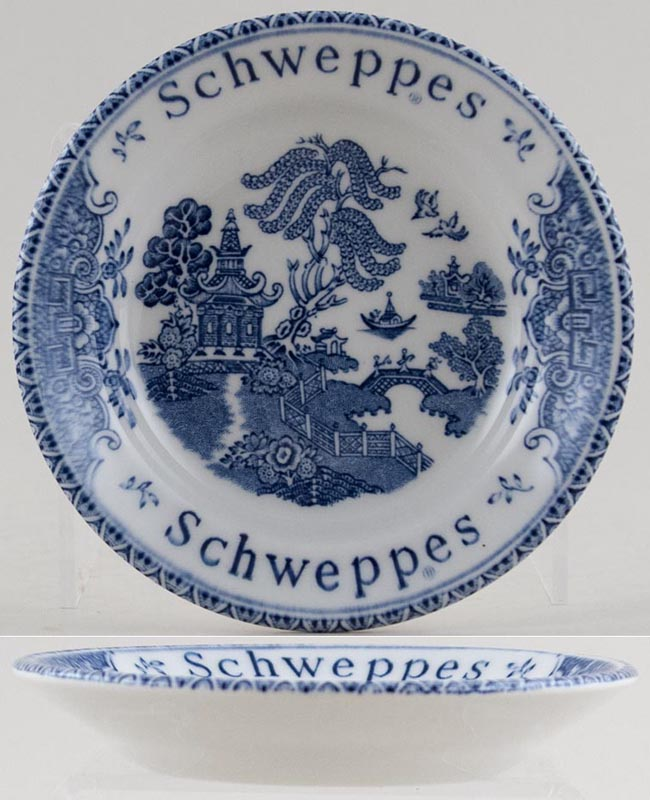Wedgwood and Co Willow Dish Schweppes Promotional c1970s