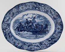 Meat Dish or Platter Washington Crossing the Delaware c1970s