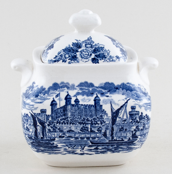 Wedgwood and Co Royal Homes of Britain Sugar with Cover Tower of London c1960s