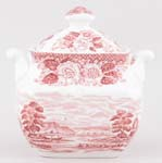 Wedgwood and Co Lochs of Scotland pink Sugar with Cover c1970s