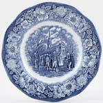 Wedgwood and Co Liberty Blue Plate Washington Leaving Christchurch c1970s
