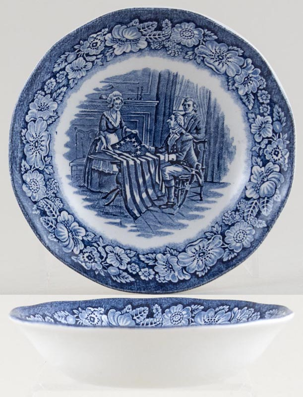 Wedgwood and Co Liberty Blue Fruit Saucer Betsy Ross c1970s