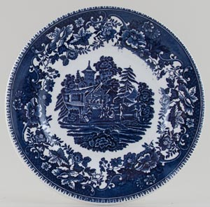 Wedgwood and Co Avon Cottage Plate c1950s
