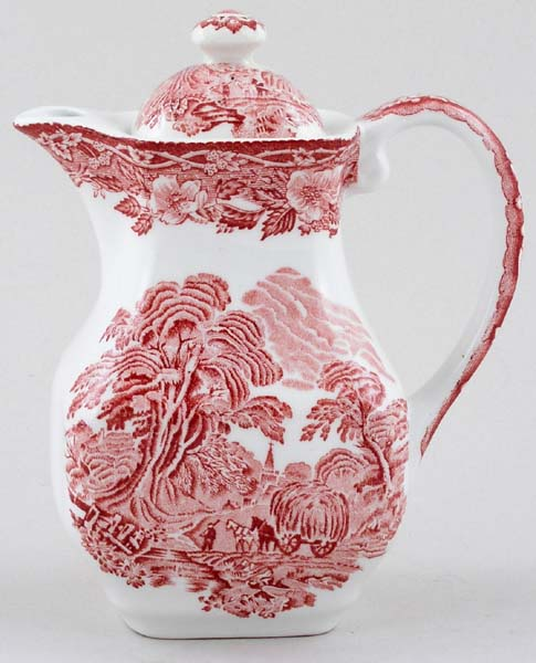 Wedgwood and Co Woodland pink Hot Water Jug small c1960s