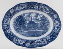 Meat Dish or Platter Governor's House Williamsburg c1970s