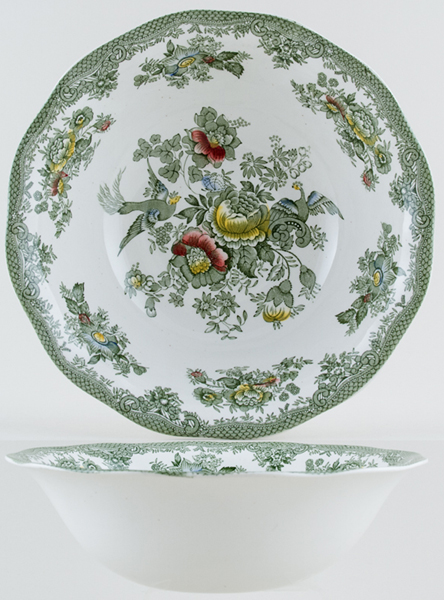 Wedgwood and Co Asiatic Pheasants green with colour Bowl c1970s