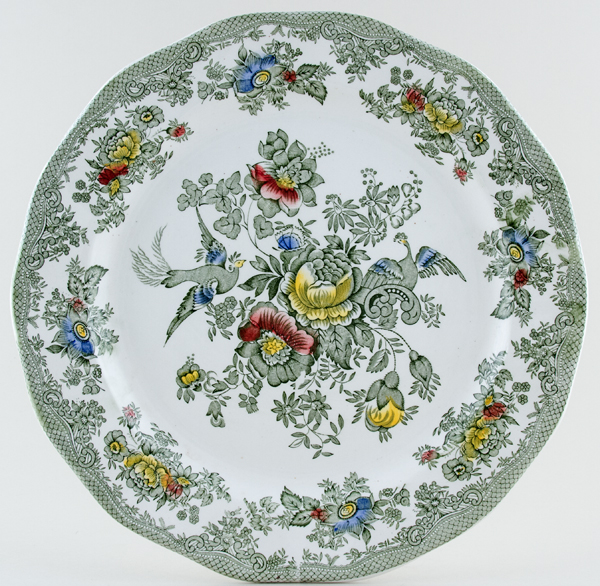 Wedgwood and Co Asiatic Pheasants green with colour Charger c1960