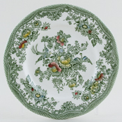 Wedgwood and Co Asiatic Pheasants green with colour Plate c1960s